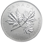 2011 1/2 oz Silver Canadian $10 Maple Leaf Forever SP-70 NGC