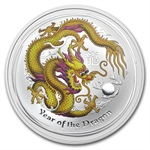2012 1 oz Silver Yellow Dragon (Melbourne ANDA Coin Show Special)