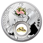 Niue 2012 Proof Silver $2 Wedding Coin
