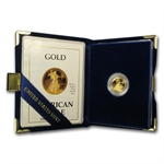 1988 - 2012 1/10 oz Proof Gold American Eagle (w/Box & CoA)