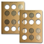 Morgan Dollar Set - VG to VF - 2 Dansco Albums - 50 Coins