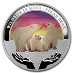 2012 1 oz Proof Silver Polar Bear - Wildlife in Need Series