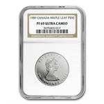 1989 1 oz Canadian Platinum Maple Leaf (PF-69 UCAM NGC)