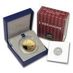 2012 50 Euro 1/4 oz Gold Proof Great French Ships - The Hermione