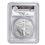 2011 Silver Eagle 25th Anniv MS-70 PCGS (FS) John Mercanti