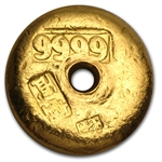 1.2057 oz 1 Tael Chinese Gold Button .9999 Fine (Type 1)