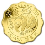 2012 Gold Canadian $150 Scallop Panda - Blessings of Good Fortune