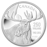 2012 1 Kilo Silver Canadian $250 - Bateman's The Moose Family