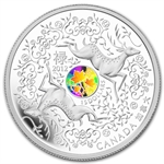 2012 1 oz Silver Canadian $15 - Maple of Good Fortune W/Hologram