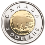2012 Royal Canadian Mint $1 & $2 Circulation and Test Coin Set