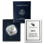 2012-W (Burnished) Silver American Eagle (w/Box & CoA)