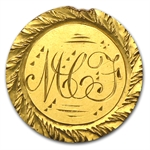 $1.00 Liberty Gold-Type I - No Date Love Token - M C F / A C F
