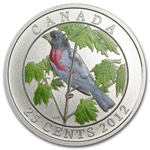 2012 Birds of Canada $0.25 Coloured - Rose Breasted Grosbeak