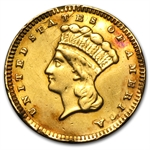 $1.00 Liberty Gold-Type III - No Date Love Token - H. N. C.