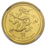 2012 1/10 oz Proof Gold Lunar Year of the Dragon (SII) NGC PF-70