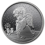 2012 1 oz Child Angel Silver Round (w/Stocking & Capsule)