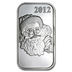 2012 1 oz Santa Silver Bar (w/Stocking & Capsule)