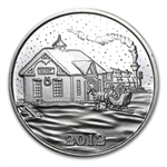 2012 1 oz Train Station Silver Round (w/Stocking & Capsule)