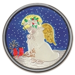 2012 1 oz Child Angel Enameled Silver Round (w/Stocking & Cap)