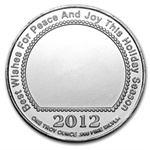 2012 1 oz Penguin Holiday Enameled Silver Round (w/Stocking)