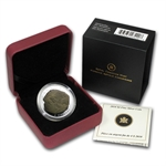 2010 1/2oz Silver Canadian $4 Dromaeosaurus Fossil Proof (W/Box)
