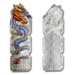 2012 16 gram Colorized Silver Year of the Dragon 5 Bar Set