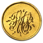 $1.00 Liberty Gold-Type III - No Date Love Token - T M S