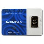 5 gram Goldas Gold Bar .9999 Fine (In Assay)