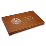 Lunar Series II (1 oz Silver) 12 coin Wood Presentation Box