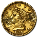 $2.50 Liberty Gold Quarter Eagle - 1856 Love Token - E F H