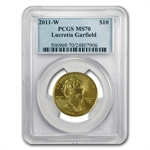 2011-W 1/2 oz Gold Lucretia Garfield PCGS MS-70