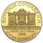 1989 1 oz Gold Austrian Philharmonic - Brilliant Uncirculated