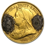 No Date Love Token - W - (Gold Half Sovereign)