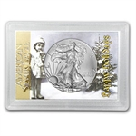 2013 1 oz Silver Eagle in Happy Holidays Design Harris Holder