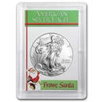 2013 1 oz Silver Eagle in the From Santa Design Harris Holder