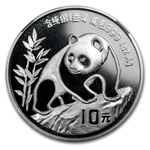1990 1 oz Silver Chinese Panda - MS-69 NGC -Small Date