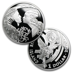 Niue 2010 Proof Silver $1 Famous Love Stories - 3 Coin Set