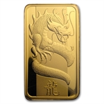 100 gram Pamp Suisse Year of the Dragon Gold Bar (In Assay)