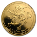 2012 1 oz Proof Gold Lunar Year of the Dragon (SII) NGC PF-70