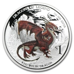 2012 1 oz Proof Silver Dragons of Legend - Red Welsh