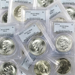 1971-1976 Eisenhower Silver Dollars - MS-66 PCGS