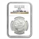 1878-CC Morgan Dollar Extra Fine-45 NGC VAM-6 DDO Leaves Top-100