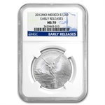 2012 1/2 oz Silver Libertad MS-70 NGC (ER) - Registry Set