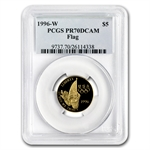 1996-W Flag Bearer - $5 Gold Commemorative - PR-70 DCAM PCGS
