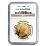 1983 1 oz Gold South African Krugerrand PF-68 UCAM NGC