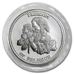1 oz Johnson Matthey (Sealed-Freedom of Religion) Silver Round