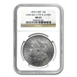 1878 Morgan Dollar - 7/8 Tailfeathers MS-63 NGC VAM-42A