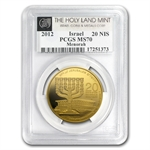 2012 Israel 1 oz Gold Menorah .9999 MS-70 PCGS