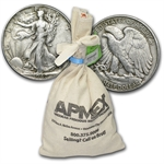 90% Silver Walking Liberty Halves - $100 Face Value Bag (XF)