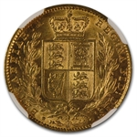 Great Britain 1866 Gold Sovereign Victoria NGC AU55